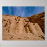 Africa, Egypt, Abu Simbel, Ramses II and Poster