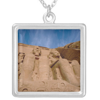 Africa, Egypt, Abu Simbel, Ramses II and Silver Plated Necklace