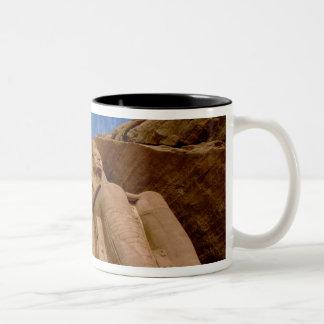 Africa, Egypt, Abu Simbel, Ramses II and Two-Tone Coffee Mug