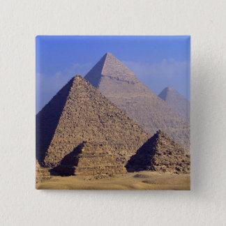 Africa, Egypt, Cairo, Giza. Great pyramids Button