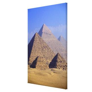 Africa, Egypt, Cairo, Giza. Great pyramids Canvas Print