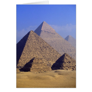Africa, Egypt, Cairo, Giza. Great pyramids Card