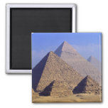 Africa, Egypt, Cairo, Giza. Great pyramids 2 Inch Square Magnet