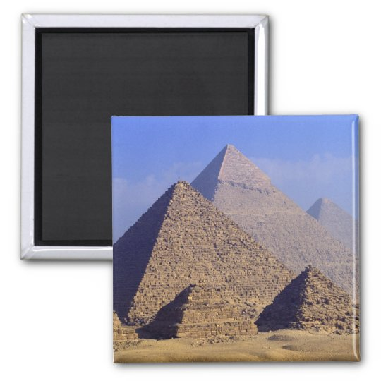 Africa, Egypt, Cairo, Giza. Great pyramids Magnet