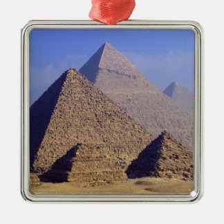 Africa, Egypt, Cairo, Giza. Great pyramids Metal Ornament