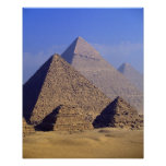 Africa, Egypt, Cairo, Giza. Great pyramids Poster