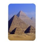 Africa, Egypt, Cairo, Giza. Great pyramids Flexible Magnets