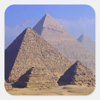 Africa, Egypt, Cairo, Giza. Great pyramids Square Sticker