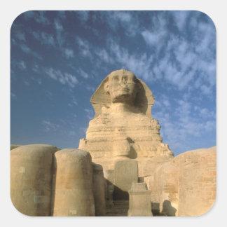 Africa, Egypt, Cairo, Giza Plateau. Sphinx Square Sticker