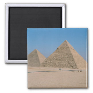 Africa - Egypt - Cairo - Great Pyramids of Giza, 2 Inch Square Magnet