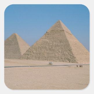 Africa - Egypt - Cairo - Great Pyramids of Giza, Square Sticker