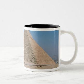Africa - Egypt - Cairo - Great Pyramids of Giza, Two-Tone Coffee Mug