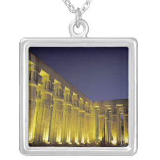 Africa, Egypt, Luxor. Sun court of Amenhotep Square Pendant Necklace