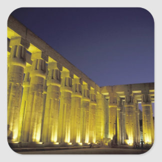 Africa, Egypt, Luxor. Sun court of Amenhotep Square Sticker