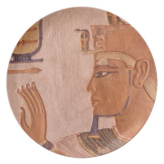Africa, Egypt, Valley of the Kings. Tomb wall Dinner Plate