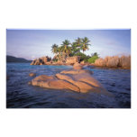 África, el Océano Índico, Seychelles, Praslin Impresion Fotografica