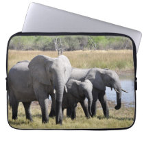 Africa Elephant Herds Computer Sleeve