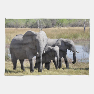 Africa Elephant Herds Towels