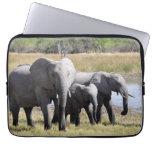 Africa Elephant Herds Laptop Computer Sleeve