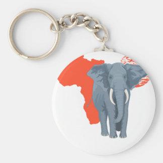 Africa Elephant Keychain