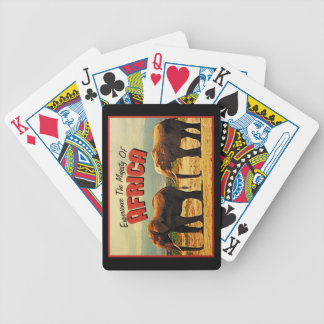 Africa Elephants Vintage Travel Bicycle Playing Cards