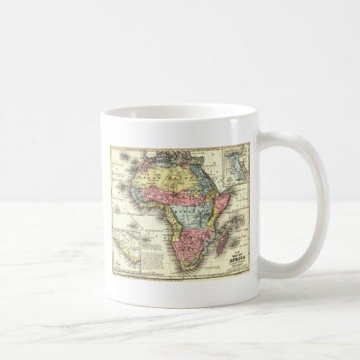 África en 1867 taza básica blanca