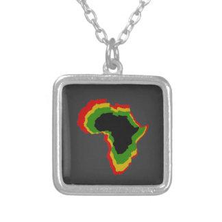 """""""África en colores africanos de la cacerola """" Colgante Cuadrado"""