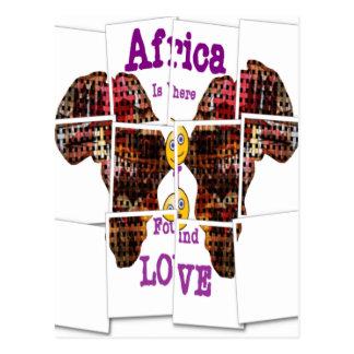 África es donde encontré amor postal