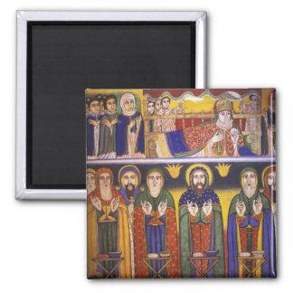 Africa, Ethiopia. Artwork depicting apostles and 2 Inch Square Magnet