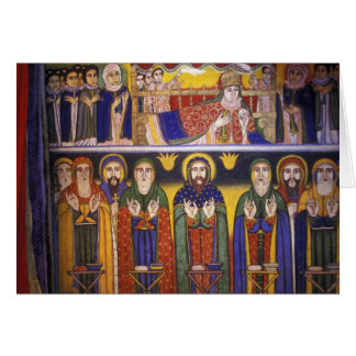 Africa, Ethiopia. Artwork depicting apostles and Card