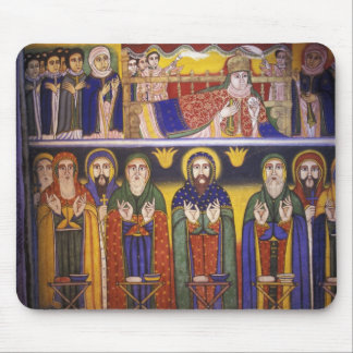 Africa, Ethiopia. Artwork depicting apostles and Mouse Pad