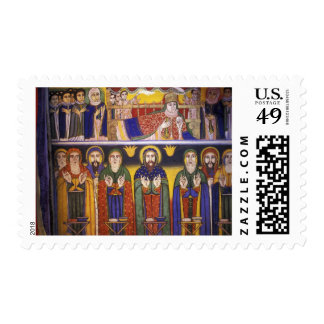 Africa, Ethiopia. Artwork depicting apostles and Postage Stamp