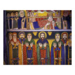 Africa, Ethiopia. Artwork depicting apostles and Poster