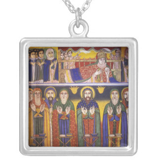 Africa, Ethiopia. Artwork depicting apostles and Silver Plated Necklace