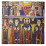Africa, Ethiopia. Artwork depicting apostles and Ceramic Tile
