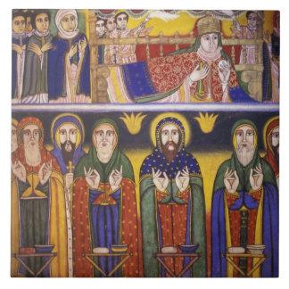 Africa, Ethiopia. Artwork depicting apostles and Tile