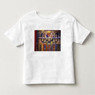 Africa, Ethiopia. Artwork depicting apostles and Tee Shirts