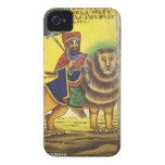 Africa, Ethiopia. Artwork depicting Lion of iPhone 4 Case