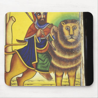 Africa, Ethiopia. Artwork depicting Lion of Mouse Pad