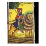 Africa, Ethiopia. Artwork depicting Lion of Post Cards