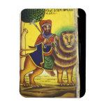 Africa, Ethiopia. Artwork depicting Lion of Flexible Magnet