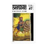 Africa, Ethiopia. Artwork depicting Lion of Stamp
