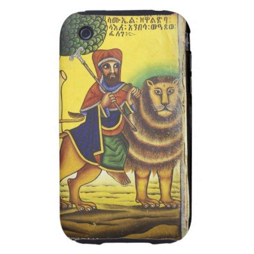 Africa, Ethiopia. Artwork depicting Lion of Tough iPhone 3 Covers