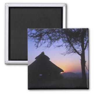 Africa, Ethiopia, Omo river region, Sunset over Magnet