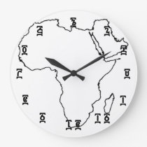 Africa Ethiopian Time - Round (Large) Wall Clock