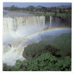 África, Etiopía, el río Nilo azul, catarata. 2 Azulejo Cuadrado Grande
