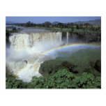 África, Etiopía, el río Nilo azul, catarata. 2 Postales