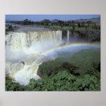 África, Etiopía, el río Nilo azul, catarata. 2 Póster
