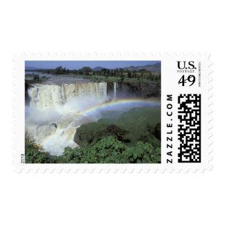 África, Etiopía, el río Nilo azul, catarata. 2 Sello Postal