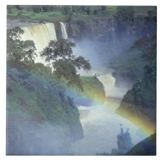 África, Etiopía, el río Nilo azul, catarata Azulejo Cuadrado Grande